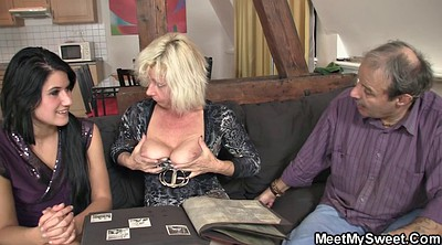Old granny, Old and young, Moms pussy, Granny threesome, Mature pussy