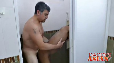 Daddy, Hardcore, Asian mature, Asian shower, Perv, Asian mature anal
