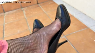 Nylon feet, Shoeplay, Nylon foot, Dangling