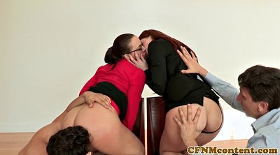 Office, Office femdom, Two milf, Office young