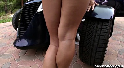 Big clit, Car, Chubby solo, Eva, Hairy pussy solo, Huge pussy