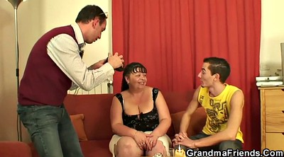 Wife threesome, Big fat granny, Young wife, Old fat, Bbw young