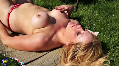 Grannies, Blonde mom, Mature outdoor, Mature mom