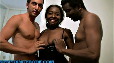 Ebony threesome, Ebony french