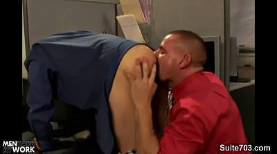 Worker, Gay office, Gay blowjob