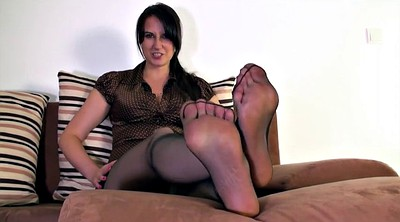 Nylon, Mother, Nylon feet, Cum on nylon, Nylon cum