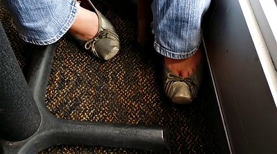 Foot, Worker, Wife foot, My wife, Flat, Car masturbation