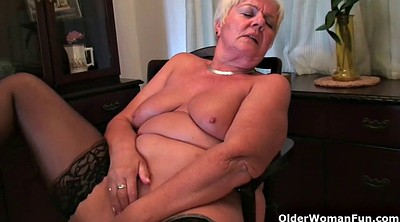 Short hair, Granny solo, Shorts, Bbw mom, Bbw granny, Granny masturbation