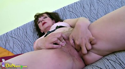 Hairy mature, Solo granny