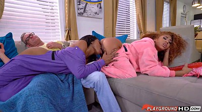 Stepfather, In front of, Ebony lesbians