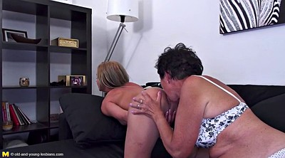 Mature lesbian, Old mom, Sex mom, Young daughter, Mom teach sex, Lesbian moms