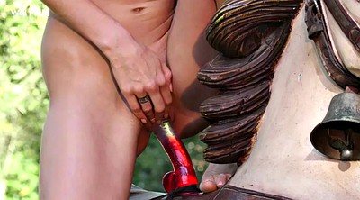 Orgasm, Outdoors, Ride dildo, Nancy