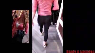 Compilation, Spandex, Candid, Hot teen
