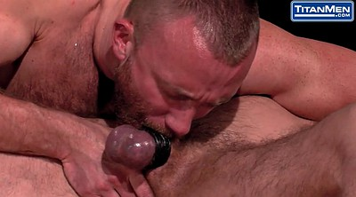 Daddy, Tied and fucked, Muscle daddy, Big cock fucking