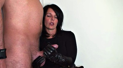 Leather, Gloves, Glove handjob
