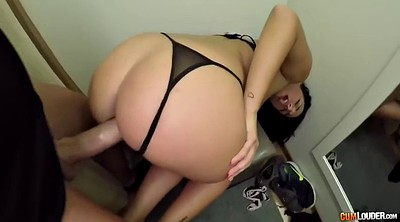 Panty, Busty, Footjob cumshot, Fitting room