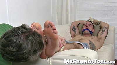 Tied, Smell, Bondage feet, Gay feet, Feet bondage, Smelling
