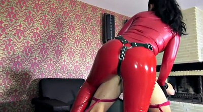 Strapon, Fuck, Latex fuck, Latex bondage, Latex strapon
