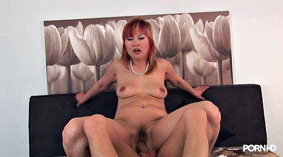 Japanese big tits, Japanese big, Asian milf, Red hair