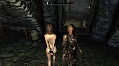 Cartoon, Bdsm public, Skyrim
