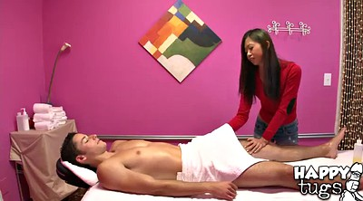 Asian guy, Massage table