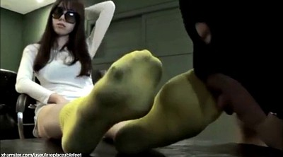 Asian femdom, Socks, Asian foot, Socks foot, Foot worship, Dirty foot