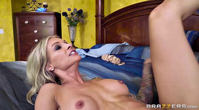 Tattoos, Blonde milf, Fever, Anal ride