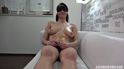 Czech massage, Czech casting, Blindfolded