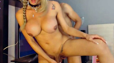 Huge tits, Shemale fucking shemale
