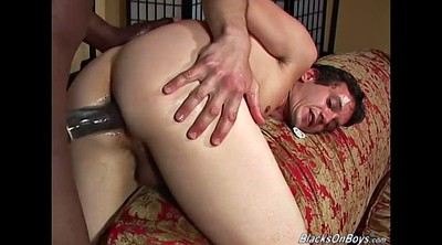 Big white cock, First interracial, Black white gay