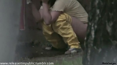 Caught, Pee outdoor