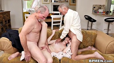 Granny anal, Young anal, Old gay, Old young threesome, Elder