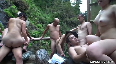 Orgy, Hairy creampie, Couple, Japanese three, Japanese creampie, Japanese couple