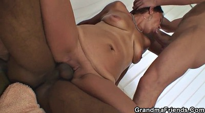 Mature threesome, Mature young