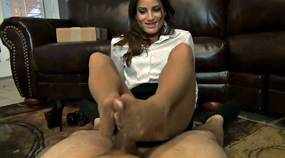 Pantyhose footjob