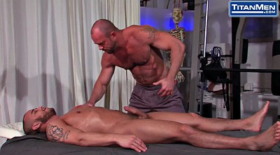 Muscle, Train, Hairy massage, Training, Train fuck