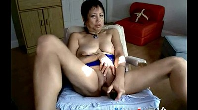Asian webcam, Asian webcams, Asian granny, Granny masturbation, Granny dildo