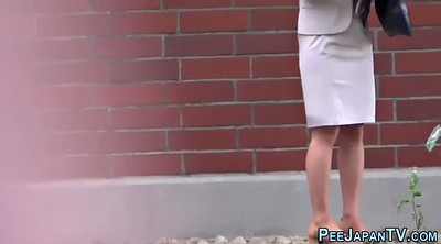 Public asian, Outdoor, Japanese pee