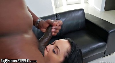 Interracial brunette