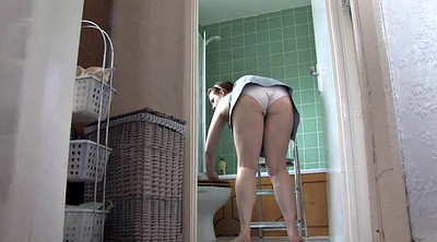 Upskirt, Big booty solo, Solo booty, Shower solo