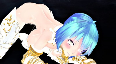 Hentai, Mmd, Gaping pussy, Blue