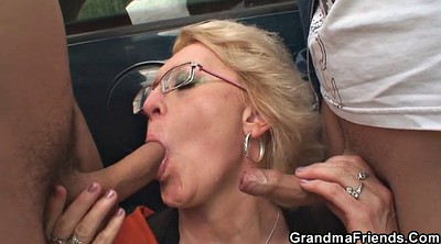 Granny, Double penetration, Milf threesome, Outdoor mature, Granny outdoor, Granny double penetration