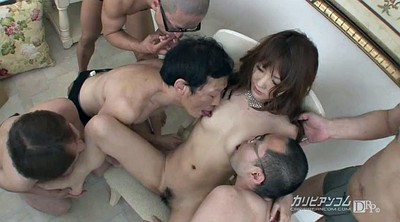 Mature asian, Many cock