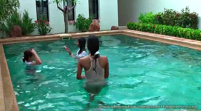 Pool, Thai teen, Thai girl