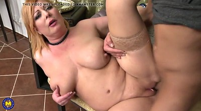 Saggy tits, Saggy, Mom boy, Mature boy, Cum on tits, Boy mature