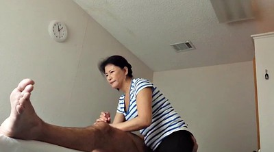 Asian handjob, Voyeur massage