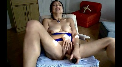 Granny, Asian granny, Mature dildo