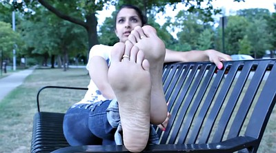 Indian, Indian outdoor, Feet solo, Park, Indian feet