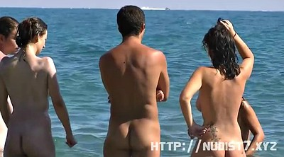 Nudist, Lotion, Beach voyeur