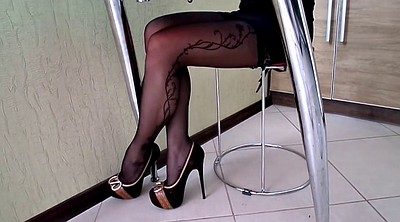 Stockings, High heels, High heel shoes